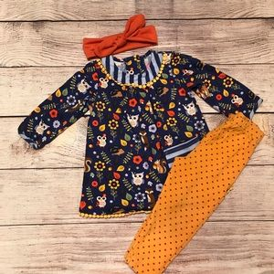 🍁🍁Fall dress with leggings and bow🍁🍁